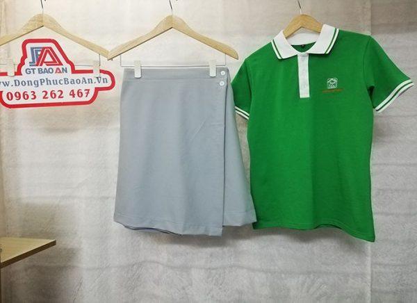 Áo thun và váy đồng phục giáo viên mầm non tư thục Sơn Ca 02
