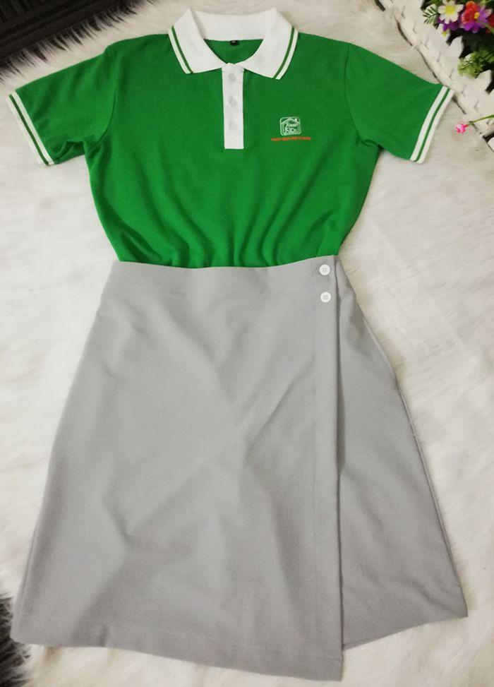 Áo thun và váy đồng phục giáo viên mầm non tư thục Sơn Ca 04