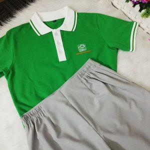 Áo thun và váy đồng phục giáo viên mầm non tư thục Sơn Ca 05