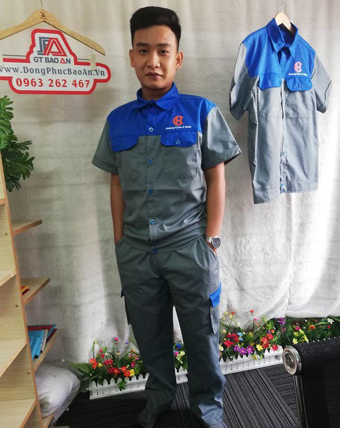 Bộ quần áo bảo hộ lao động ngắn tay - Hoàng Châu 2 Auto 01
