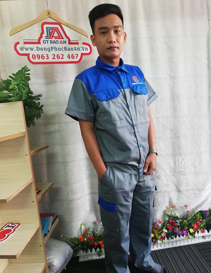 Bộ quần áo bảo hộ lao động ngắn tay - Hoàng Châu 2 Auto 02