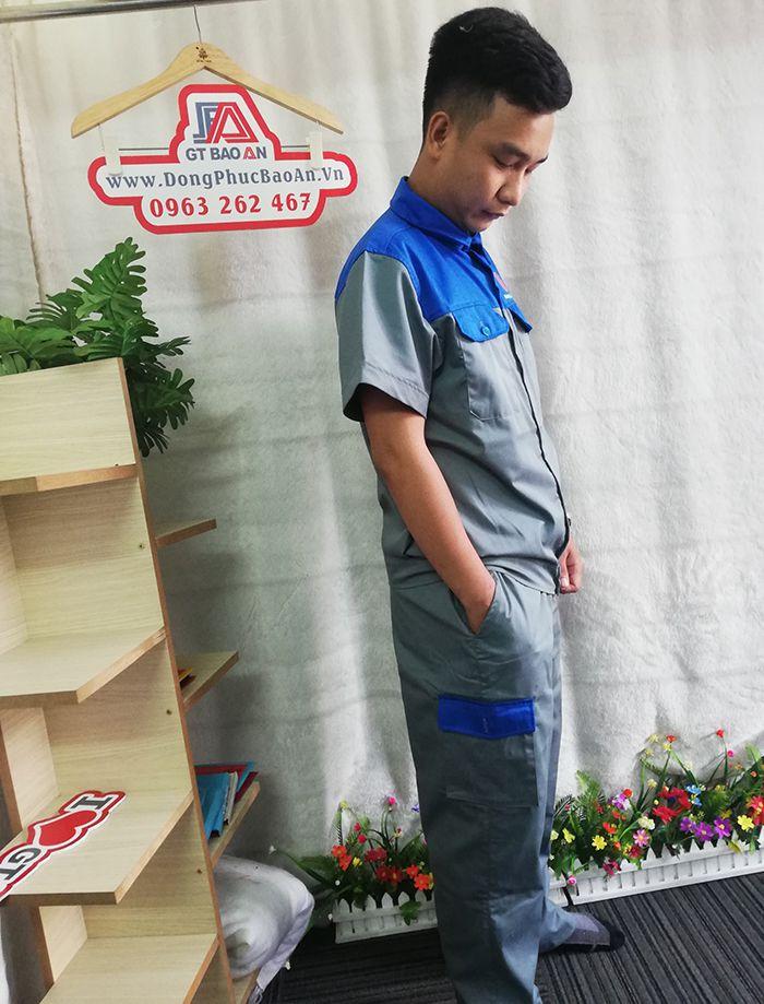 Bộ quần áo bảo hộ lao động ngắn tay - Hoàng Châu 2 Auto 03