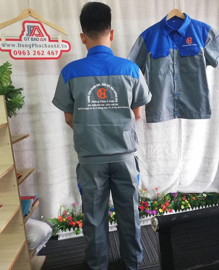 Bộ quần áo bảo hộ lao động ngắn tay - Hoàng Châu 2 Auto 04