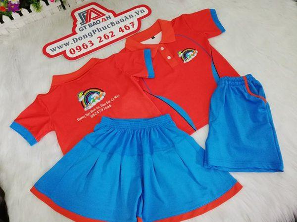 Đồng phục cho bé trường mầm non Thỏ Ngọc 02