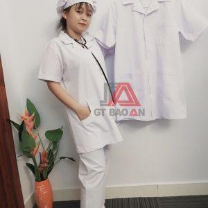 Đồng phục y tá, học sinh trường y khoa may sẵn giá cực rẻ 01