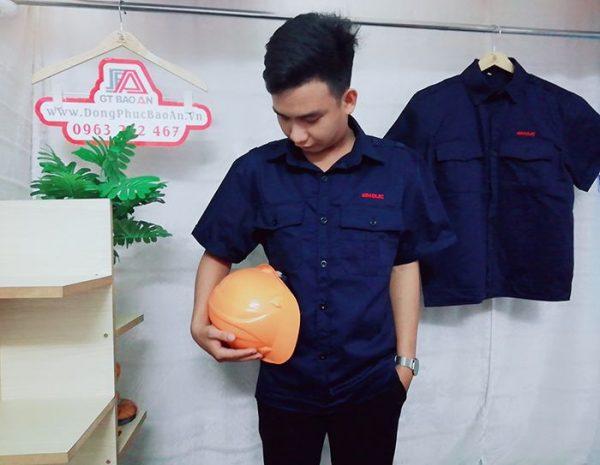 May áo bảo hộ công nhân xây dựng, cơ khí chất lượng 01