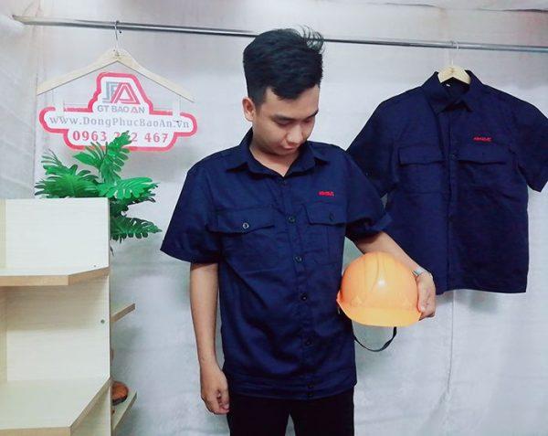 May áo bảo hộ công nhân xây dựng, cơ khí chất lượng 02