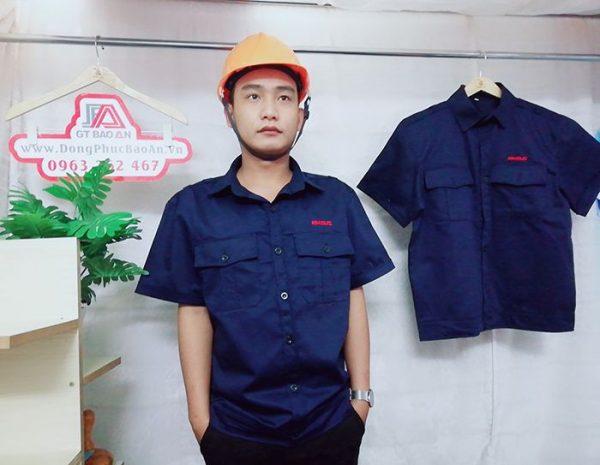 May áo bảo hộ công nhân xây dựng, cơ khí chất lượng 04