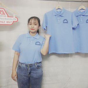 May áo thun polo cổ trụ đồng phục nhà hàng cao cấp 01