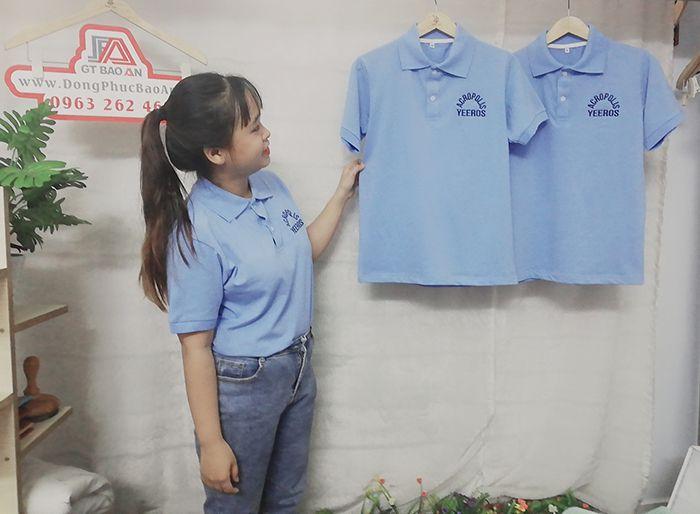 May áo thun polo cổ trụ đồng phục nhà hàng cao cấp 03