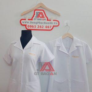 Áo blouse tay ngắn màu trắng Milensea Cosmetics