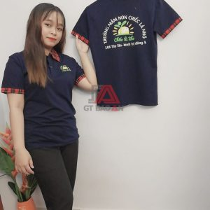 Áo thun giáo viên đồng phục trường mầm non chiếc là nhỏ 01