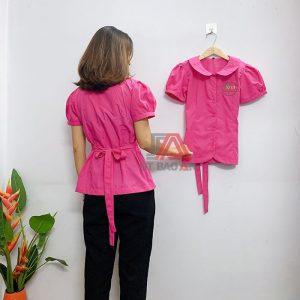 Đồng phục cô giáo, áo bảo mẫu trường mầm non 01