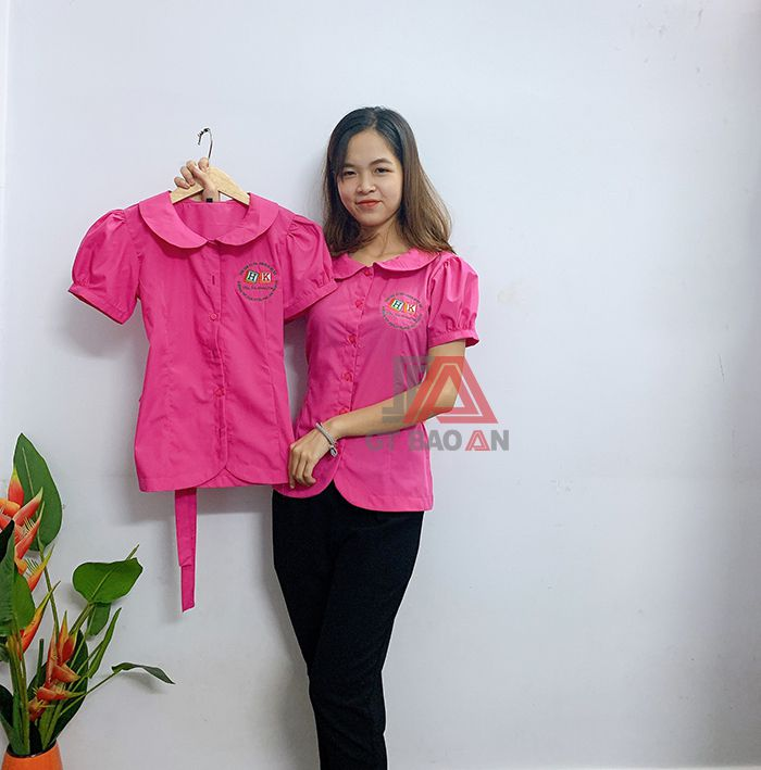 Đồng phục cô giáo, áo bảo mẫu trường mầm non 03