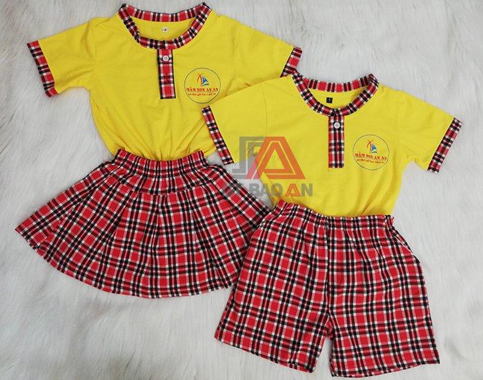 Đồng phục trẻ em mầm non cho bé trường An An 01