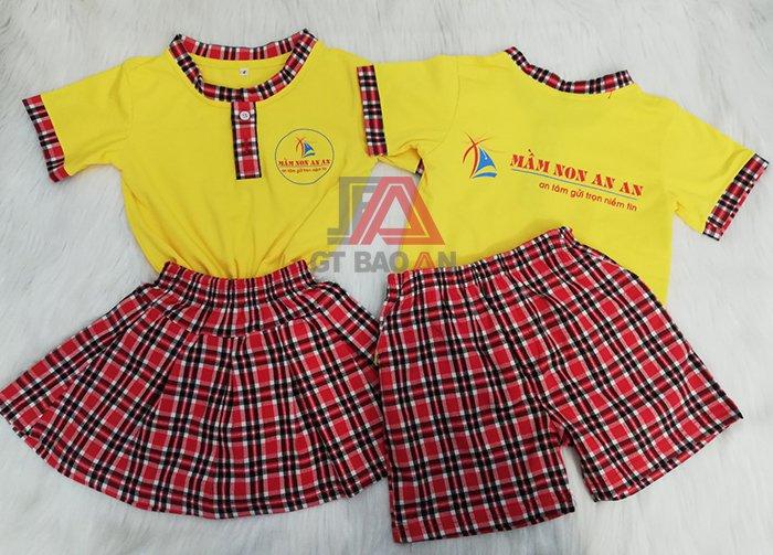 Đồng phục trẻ em mầm non cho bé trường An An 02