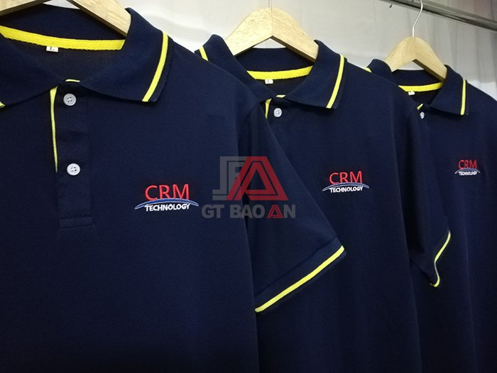 Mẫu áo thun đồng phục công ty, áo thun công sở đẹp - CRM