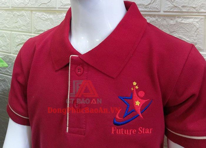 Mẫu Áo Thun Đồng Phục Mầm Non Ngôi Sao Tương Lai (Future Star) – Áo Phông Đồng Phục Màu Đỏ Đẹp Giá Rẻ