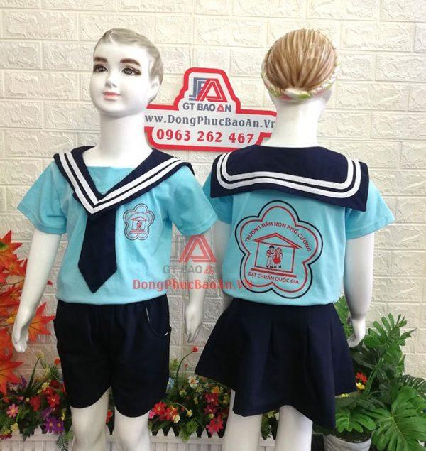 mẫu đồng phục mầm non trẻ em mới nhất 2020 - mầm non phổ cường