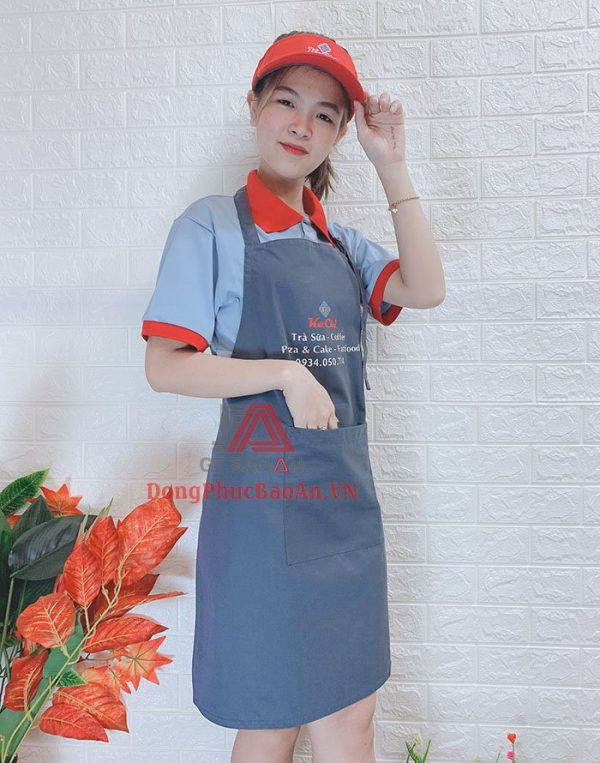 Bộ Đồng Phục Quán Trà Sữa, Cafe Siêu Xinh Cho Nữ Nhân Viên Phục Vụ – Đồng Phục Quán Trà Sữa KaChi