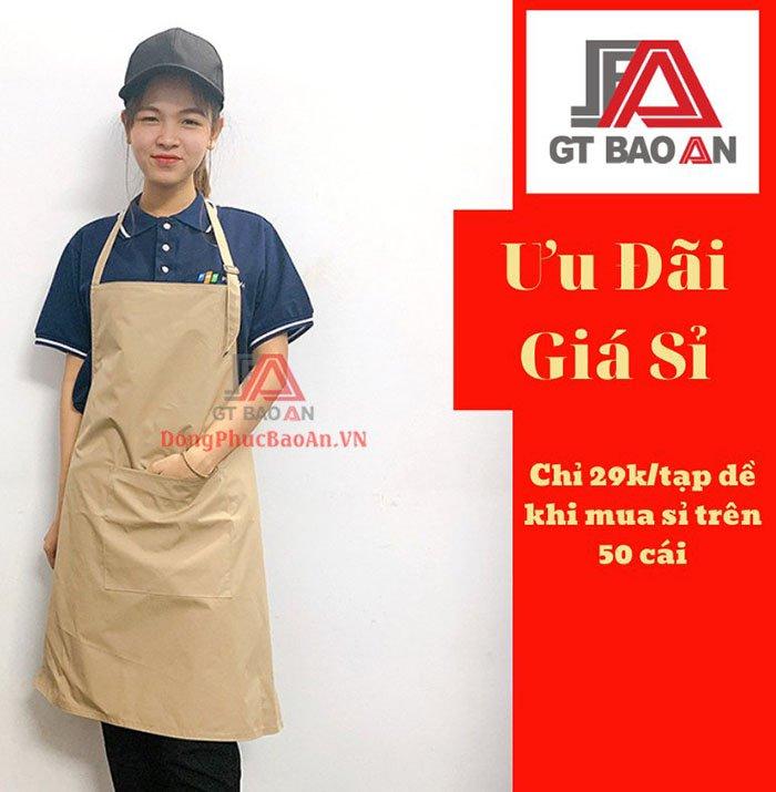 May Tạp Dề Đồng Phục Theo Yêu Cầu Giá Rẻ Quận Bình Tân, TPHCM