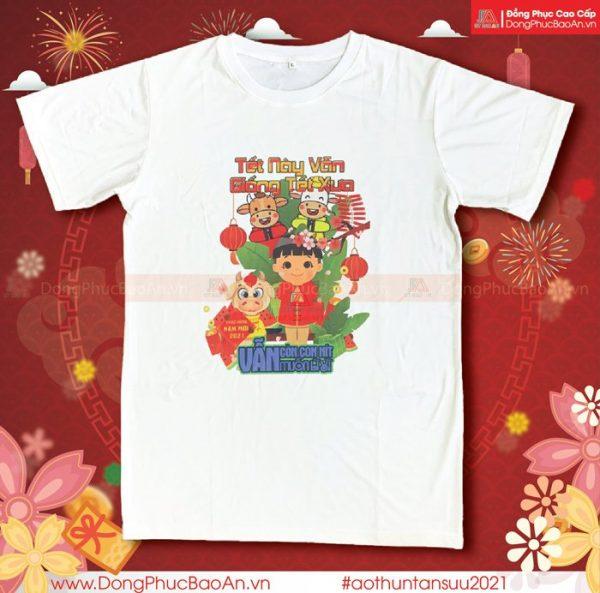 Mẫu Áo Thun Con Trâu Tết Tân Sửu 2021 – Áo Thun Tết Lì Xì Mừng Xuân