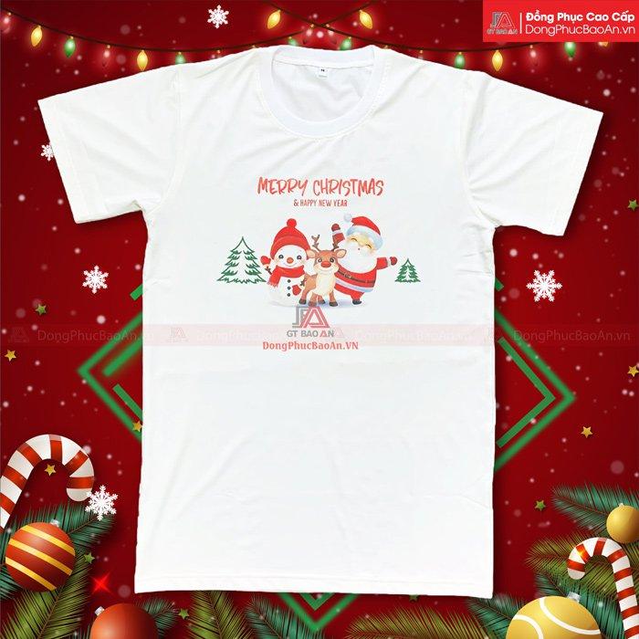 Mẫu Áo Thun Giáng Sinh Người Tuyết Ông Già Noel Tuần Lộc Đẹp Nhất 2020