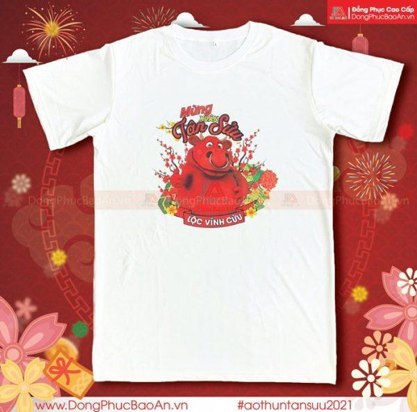 Mẫu Áo Thun Tết Tân Sửu 2021 - Mừng Xuân Tân Sửu, Lộc Vĩnh Cửu 59K/Áo