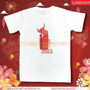 Mẫu Áo Thun Xuân Tân Sửu 2021 – Áo Thun Thời Trang In Hình Tết Tân Sửu
