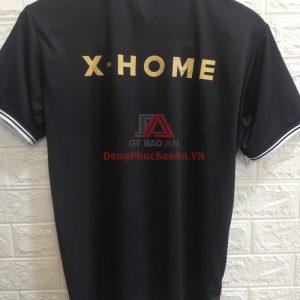 Mẫu Đồng Phục Áo Thun Công Ty Cổ Trụ Cao Cấp X-HOME Có In Logo Giá Rẻ Bình Tân