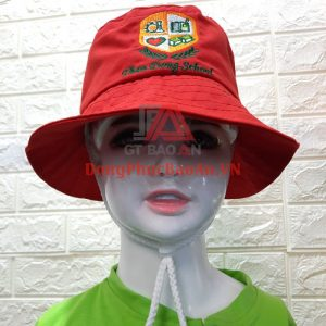 Mẫu Mũ Tai Bèo Vành Nhỏ Đồng Phục Trường Mầm Non Thần Đồng School