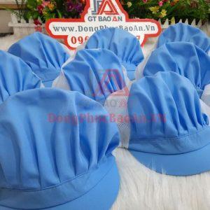 Mẫu Mũ Trùm Tóc Cho Công Nhân Chế Biến Thủy Hải Sản, Bánh Kẹo Màu Xanh Ya