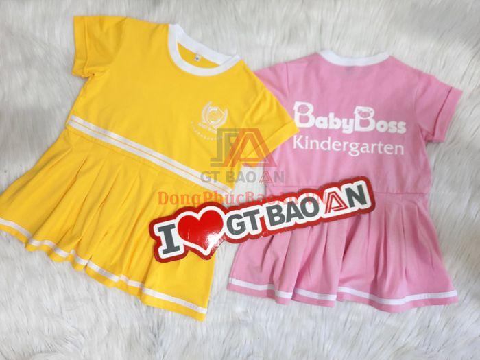 Mẫu Quần Áo Đồng Phục Cho Trẻ Mầm Non Đa Sắc Màu Baby Boss