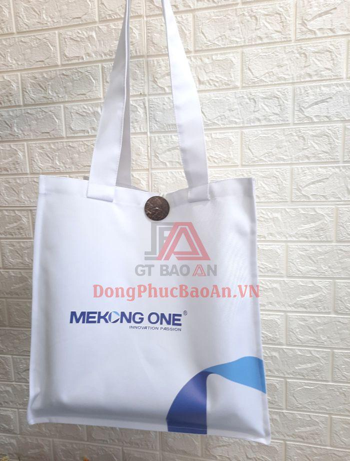 Mẫu Túi Tote Vải Quà Tặng Sự Kiện Mekong One – Túi Vải Không Dệt TPHCM Cỡ Lớn Chất Lượng
