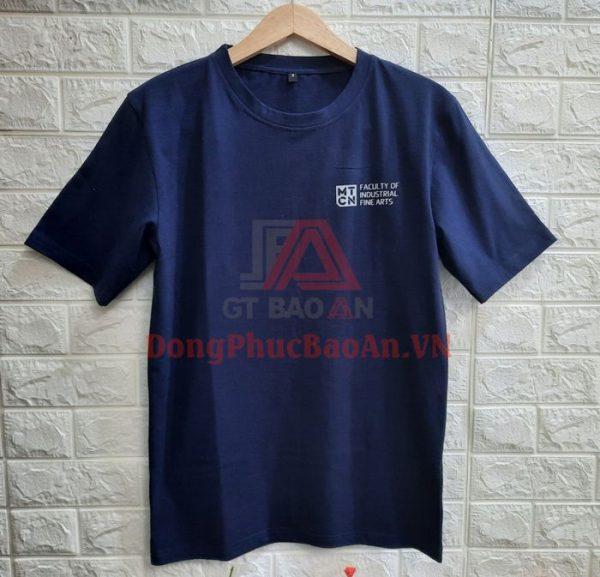 Áo Thun Phản Quang Chữ Màu Cam Đại Học Tôn Đức Thắng-Vải Cotton 100%