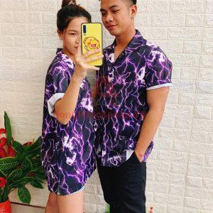 Mẫu Áo Sơ Mi Họa Tiết Unisex Tay Lỡ Form Rộng – Phong Cách Retro Từ Hawaii