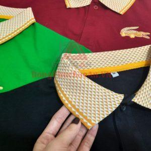 Mẫu Đồng Phục Áo Thun Phối Cổ Trụ – Logo Thêu Cá Sấu