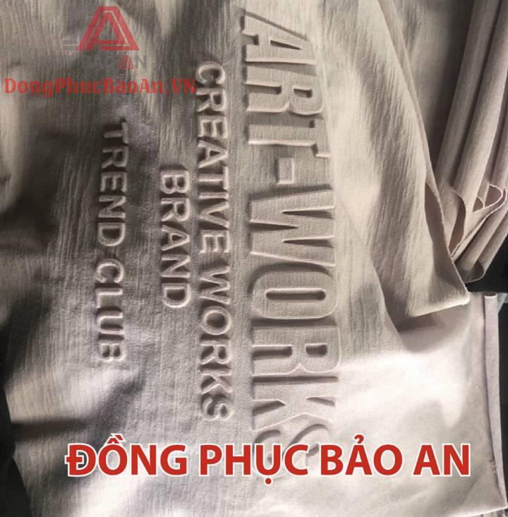 Chi Tiết Quy Trình In Dập Nổi Họa Tiết Áo Thun – Quận Tân Bình