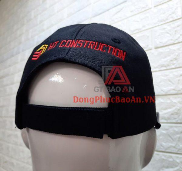 Mẫu Nón Kết Nam Đồng Phục Công Ty HD CONSTRUCTION Cao Cấp Có Thêu Logo