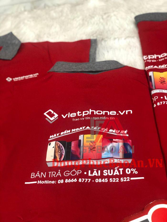 Mẫu Áo Thun Đồng Phục Cao Cấp In Logo Theo Yêu Cầu VietPhone.vn
