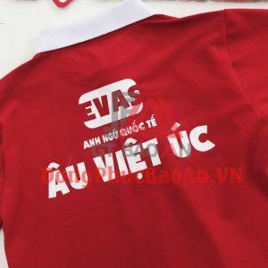 Mẫu Áo Thun Đồng Phục Học Viên Trung Tâm Anh Ngữ Quốc Tế Âu Việt Úc