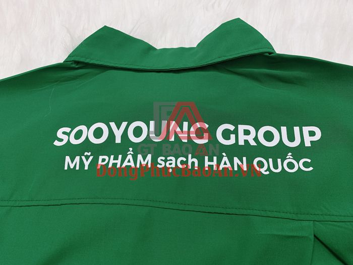 Mẫu Đồng Phục Phòng Sạch Cho Công Nhân Sản Xuất Mỹ Phẩm Sạch Sooyoung Group