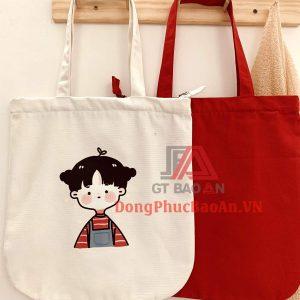 Shop bán túi vải đẹp ở TPHCM – Túi vải canvas in hình Anime đeo vai phong cách Hàn Quốc