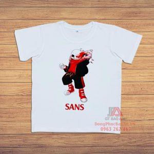 Áo thun trẻ em in hình Sans Undertale Game, Áo thun áo phông bé Sans mới nhất 2021