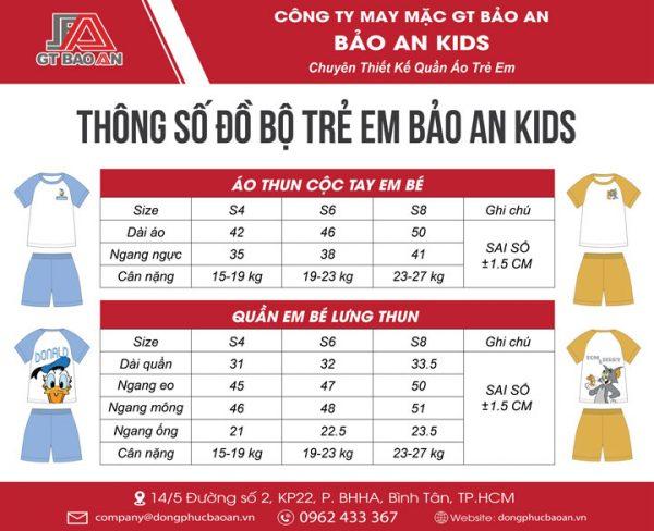 Hướng dẫn cách chọn size quần áo cho bé chuẩn theo cân nặng tại cửa hàng Bảo An Kids