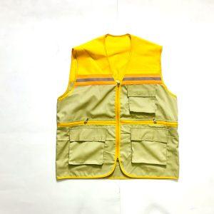 [AGLPQM6] Áo Gile Bảo Hộ Phản Quang Cao Cấp Màu Vàng Cam Phối Ghi Sáng Mã 6