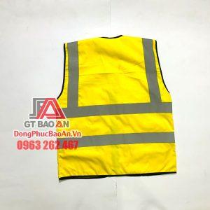 [AGLPQM3] Áo Gile Bảo Hộ Phản Quang Cao Cấp Màu Vàng Sọc Xám Mã 3