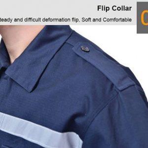 Quần áo bảo hộ liền quần cao cấp có phản quang mã ALQ01 - Quần áo bảo hộ công nhân, kỹ sư, thợ sửa chữa màu Xanh Đen