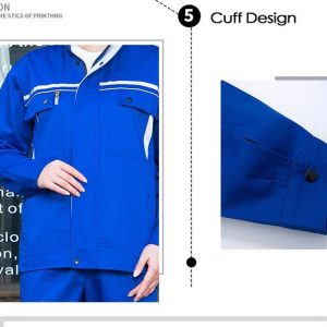 Bộ quần áo bảo hộ công trình có phản quang cao cấp mẫu XD03-02 - Quần áo bảo hộ cho kỹ sư công trình, kỹ thuật màu Xanh Coban