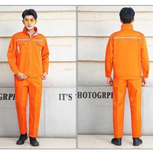 Bộ quần áo bảo hộ công trình có phản quang cao cấp mẫu XD03-03 - Quần áo bảo hộ cho kỹ sư công trình, kỹ thuật, điện lực màu Cam